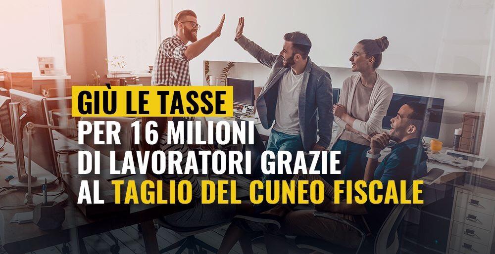 Read more about the article Giù le tasse per milioni di lavoratori col taglio del Cuneo Fiscale