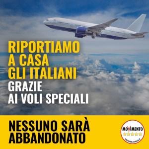Riportiamo a casa gli italiani grazie ai voli speciali.