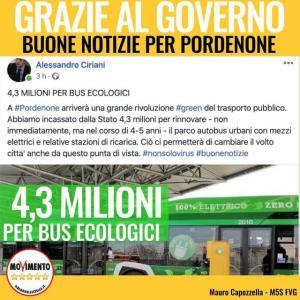Read more about the article Grazie al Governo, buone notizie per il trasporto pubblico di Pordenone!