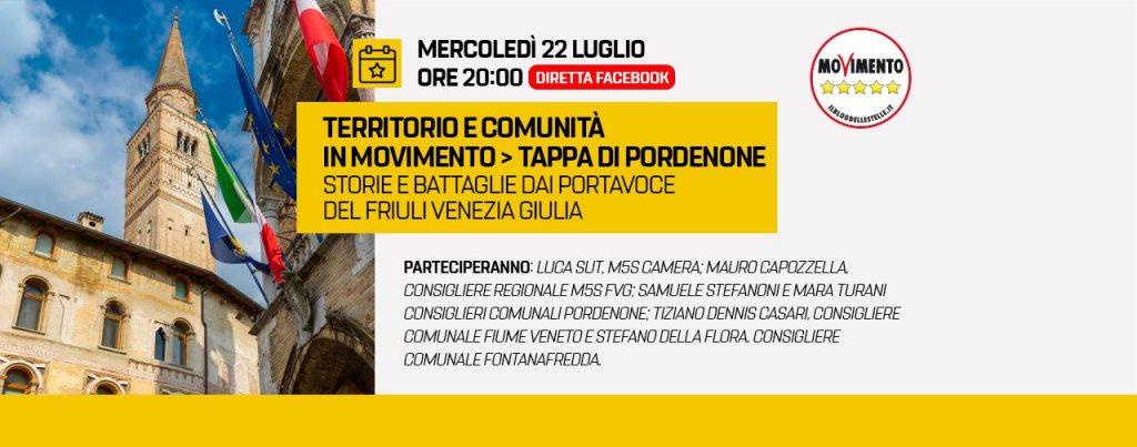 Territorio e comunità in Movimento > Tappa di Pordenone Storie e battaglie dai Portavoce del Friuli Venezia Giulia 1