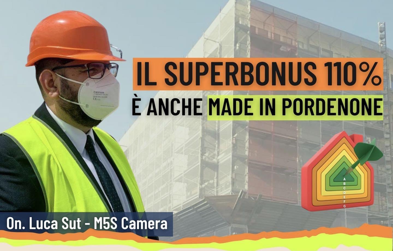 """Il Superbonus 110% è anche """"Made in Pordenone""""."""