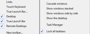 Create a taskbar toolbar