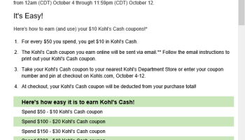 what is kohl's cash