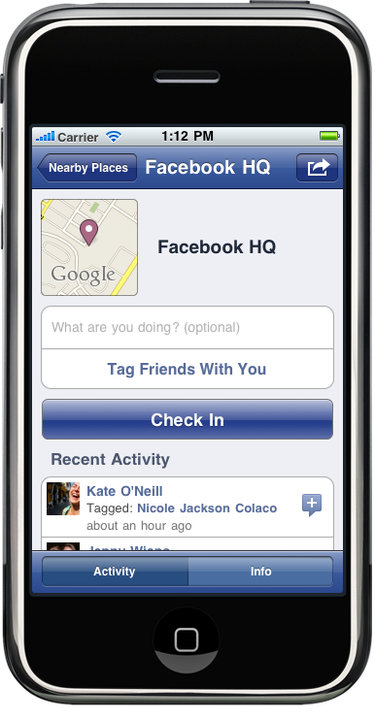 Introducing: Facebook Places [Foursquare]