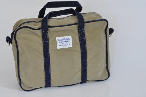 Wm. J. Mills & Co. Canvas Briefcase Stonewashed Vintage Series in Tan