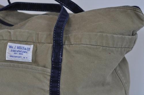 Wm. J. Mills & Co. Teak Tan Jitney Cargo Bag Stonewashed Vintage Series