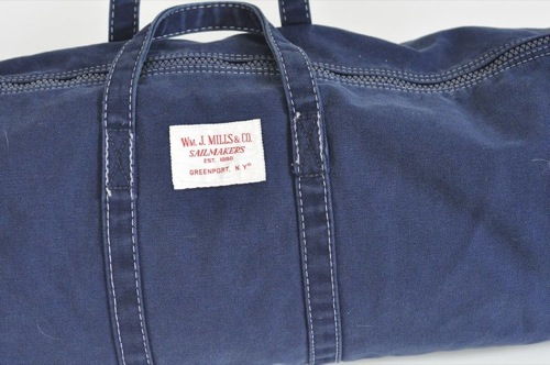 Wm. J. Mills & Co. Sag Harbor Duffel Stonewashed Vintage Series in Navy