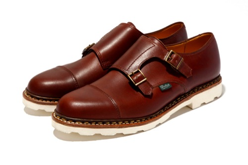 Paraboot for United Arrows Double Monk Strap Shoe