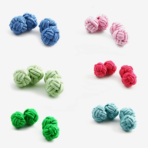 The Want | Eties Silk Knots Cufflinks