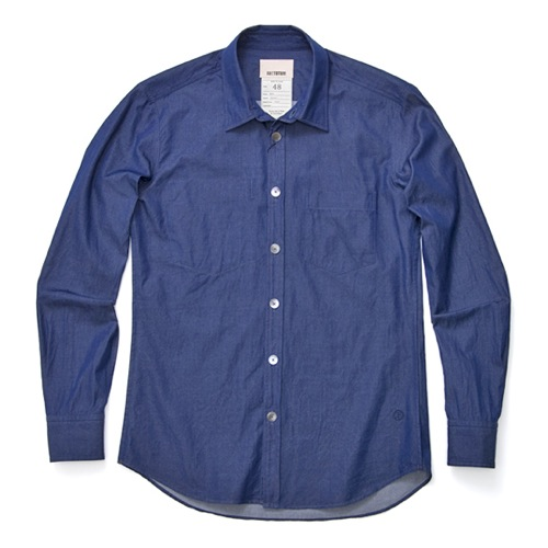 Factotum Natural Indigo Chambray Denim Shirt