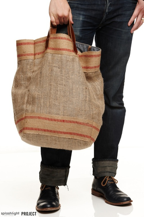 PROJECT NY | CXXVI Burlap Tote for Spring/Summer 2012