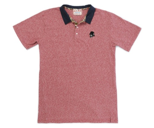 Left Field NYC | Red Mock Skull Polo