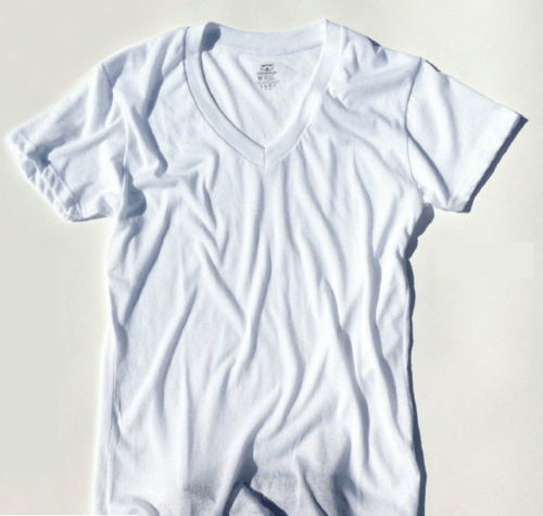 Introducing | Ribbed Tee Retro Fit V-Neck Undershirt