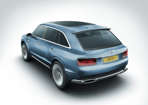Bentley EXP 9 F SUV Concept Unveiled at Geneva Motor Show