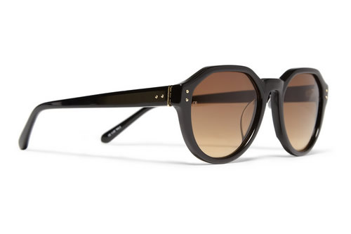 Linda Farrow Luxe Angular Frame Sunglasses