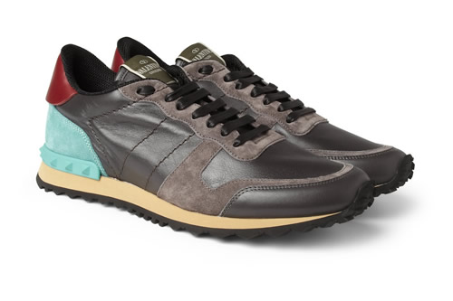 Valentino Leather / Suede Sneakers