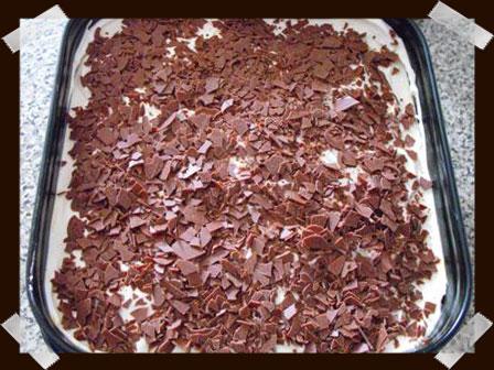 Cubrimos con virutas de chocolate