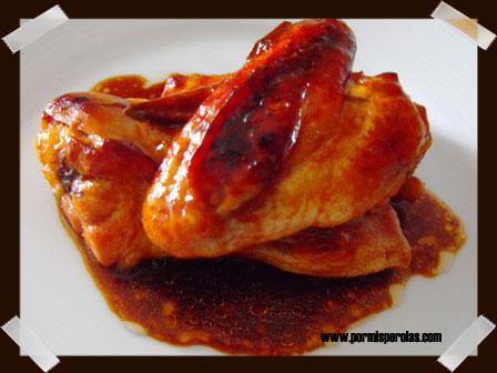 Pollo asado con salsa barbacoa al Jack Daniel's