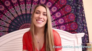 Teen Kimber Lee Gives a V-Day BJ!