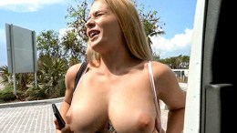 Blonde With Natural Tits Hops On The Bus – Sloan Harper