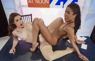 Dos lesbianas putas en el noticiero – Chanel Preston y Kira Noir – Hot And Mean – Brazzers