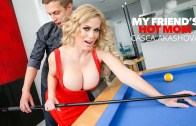 Casca Akashova fucks her son's friend on the pool table – Casca Akashova
