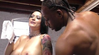 Katrina Jade entertaining black dicks before blow bang scene (BTS)