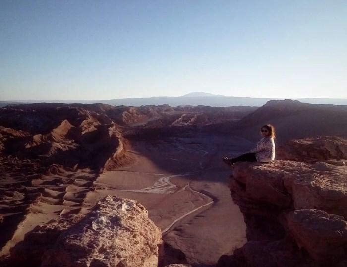 Fotografía en el Valle de la Luna al atardecer.