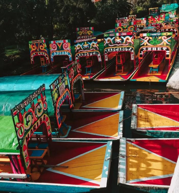 Trajineras de Xochimilco.