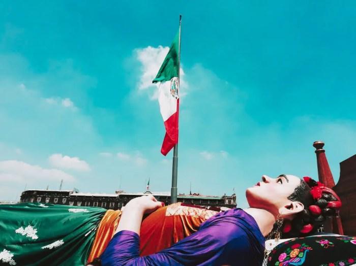 Celebración del Natalicio de Frida Kahlo en el Zócalo.