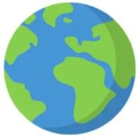 Logo de la aplicación de viaje World Traveller.