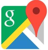 Logo de la aplicación Google Maps.