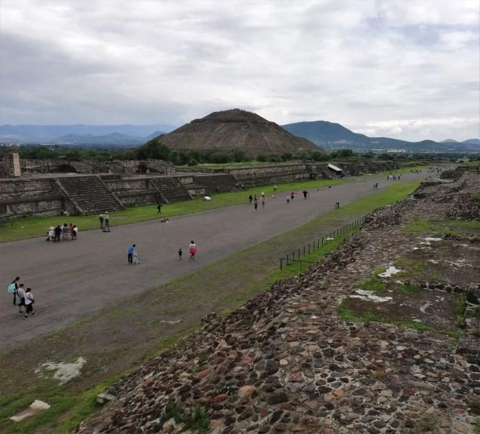 Calzada de Los Muertos, visitando Teotihuacán sin tour.