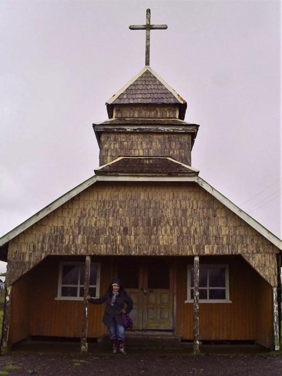 Fotografía en una Iglesia de Chiloé.