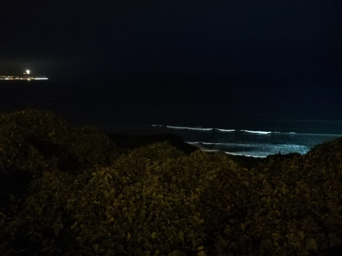 Malecón de Miraflores de noche.