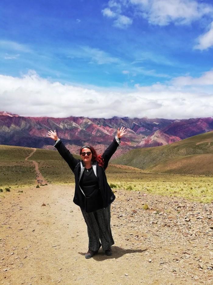 En el Hornocal, Norte Argentino.