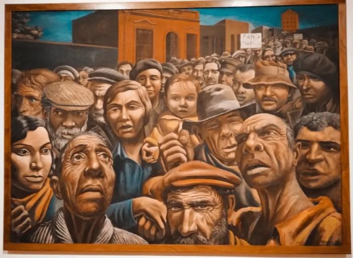 Pintura La Manifestación, MALBA, Buenos Aires.