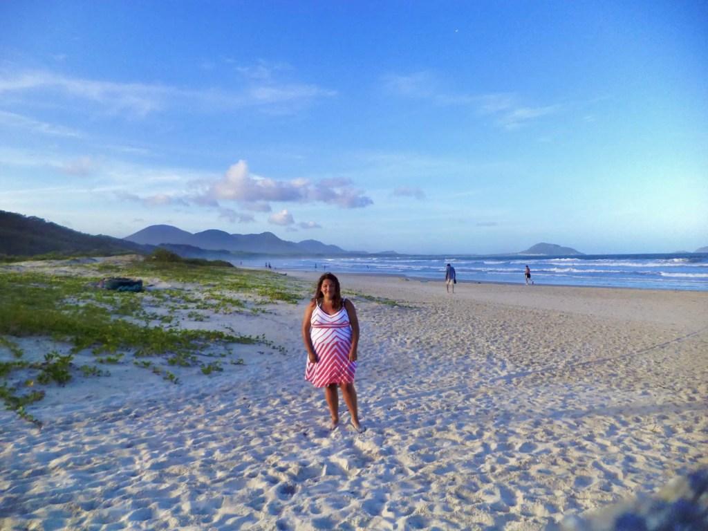 En Barra da Lagoa haciendo mi primer viaje sola.
