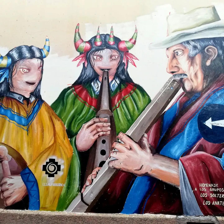 Arte urbano de las calles de Humahuaca.