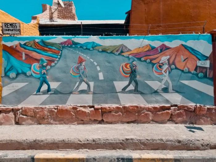 Arte urbana en Tilcara.