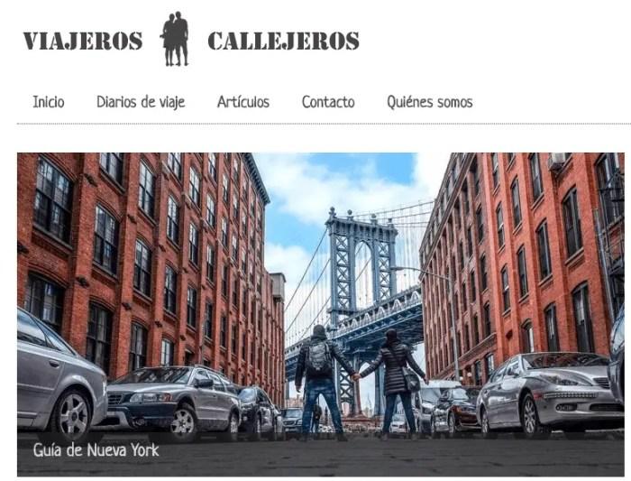 Viajeros Callejeros, uno de mis 10 blogs de viajes favoritos.