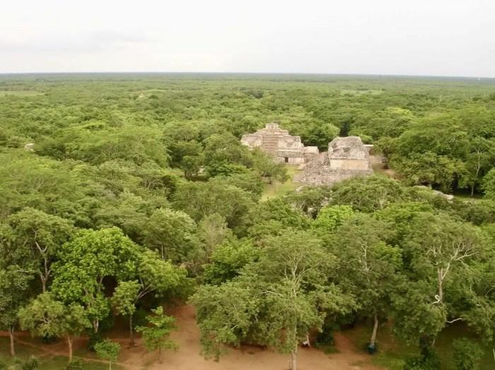 Vista panorámica de las Ruinas Ek balam