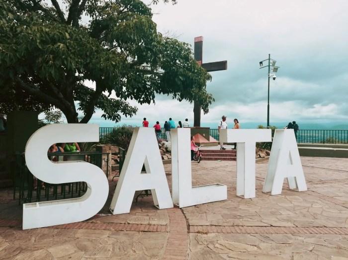 Letrero de Salta.