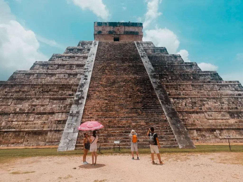 Simetría en Chichén Itzá.