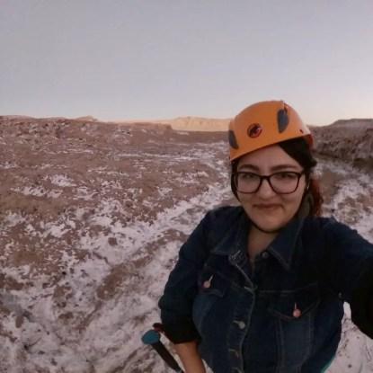 Foto haciendo el Trekking nocturno en el Desierto de Atacama.