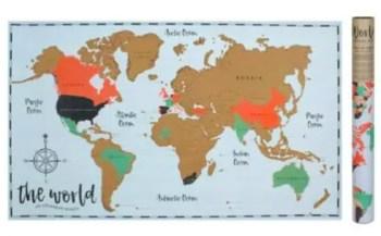 Mapa mundo raspable.