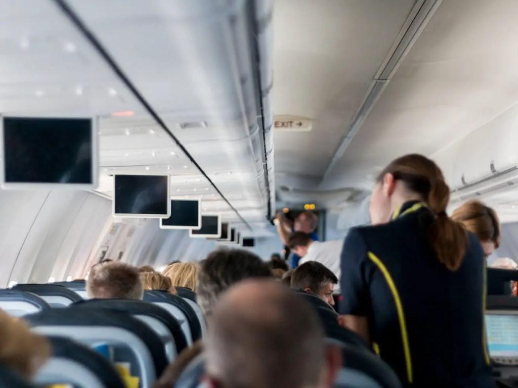Durante el vuelo.
