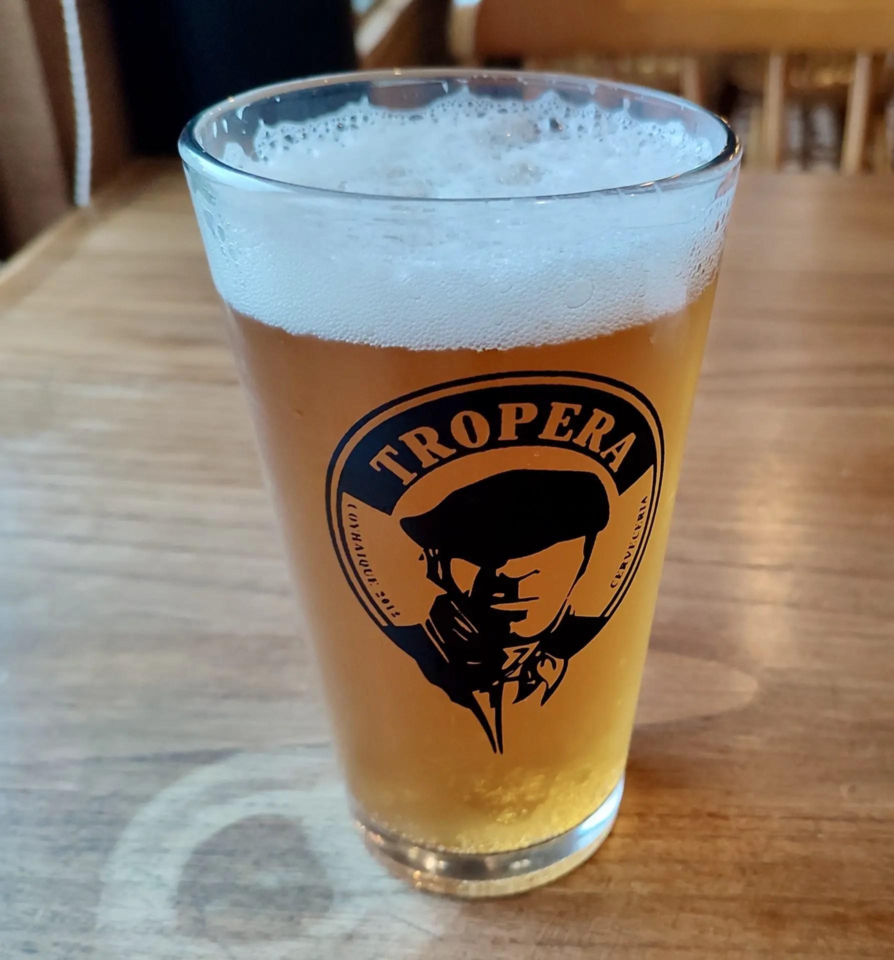 Cerveza Artesanal Mesa Tropera.