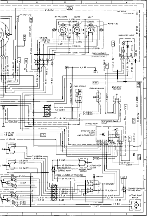 Wiring Diagram Type 924 S Model 86 Sheet  Porsche 944