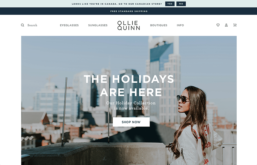 Ollie Quinn Shopify Plus Design